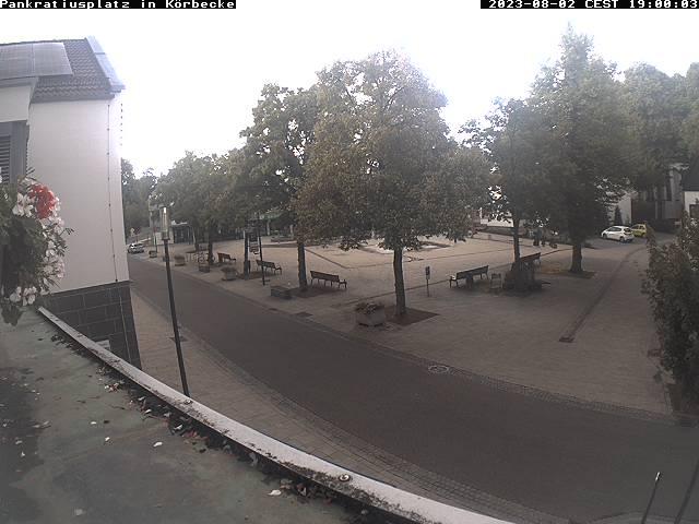 Blick auf die Hauptstraße Körbecke